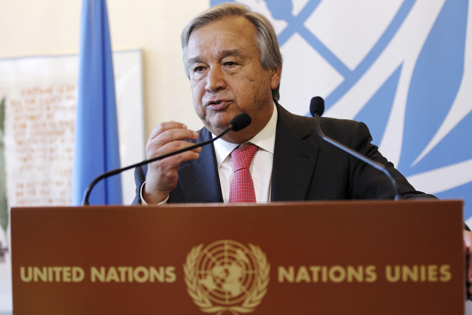 UN High Commissioner for Refugees Antonio Guterres