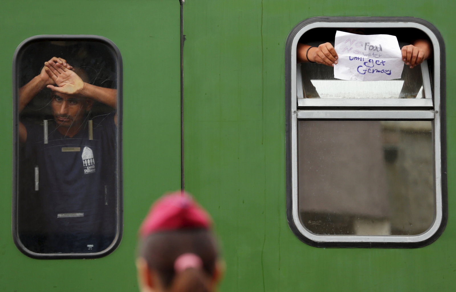 Bicske Hungary migrant train standoff