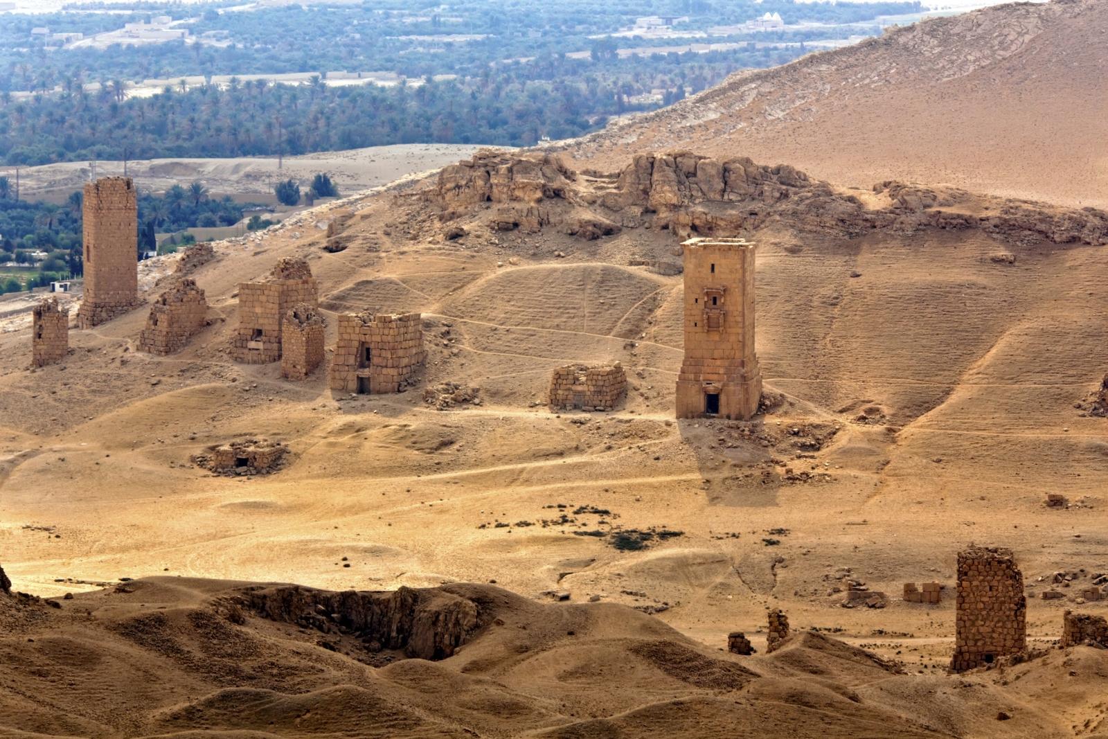 Palmyra tomb towers Isis
