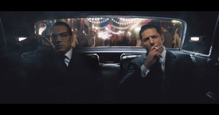Tom Hardy as Ronnie and Reggie Kray