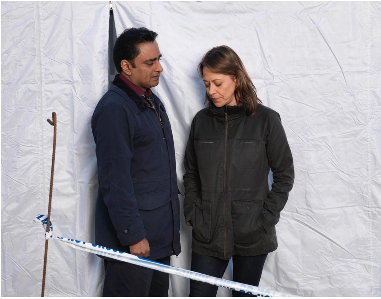 Nicola Walker and Sanjeev Bhaskar