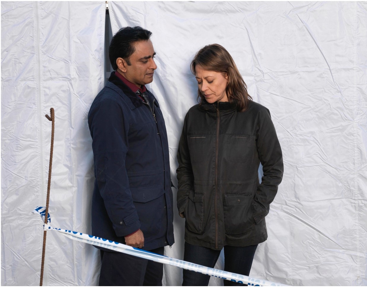 Nicola Walker and Sanjeev Bhaskar
