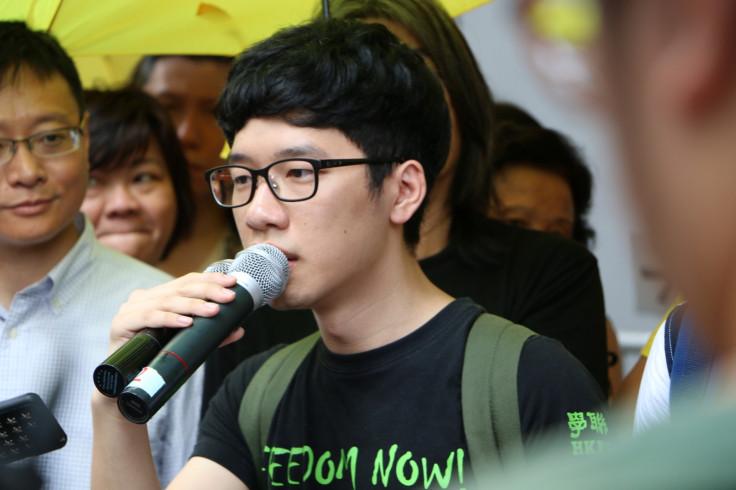 Nathan Law speaking in Hong Kong
