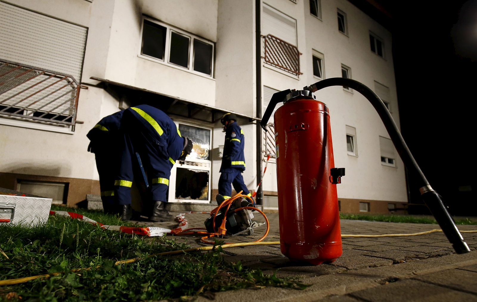 Germany refugee arson Heppenheim
