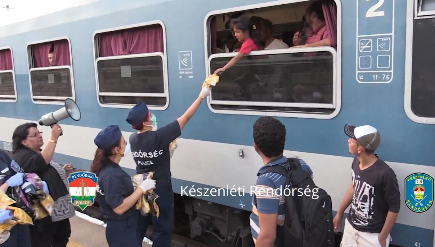Train stand-off in Hungary