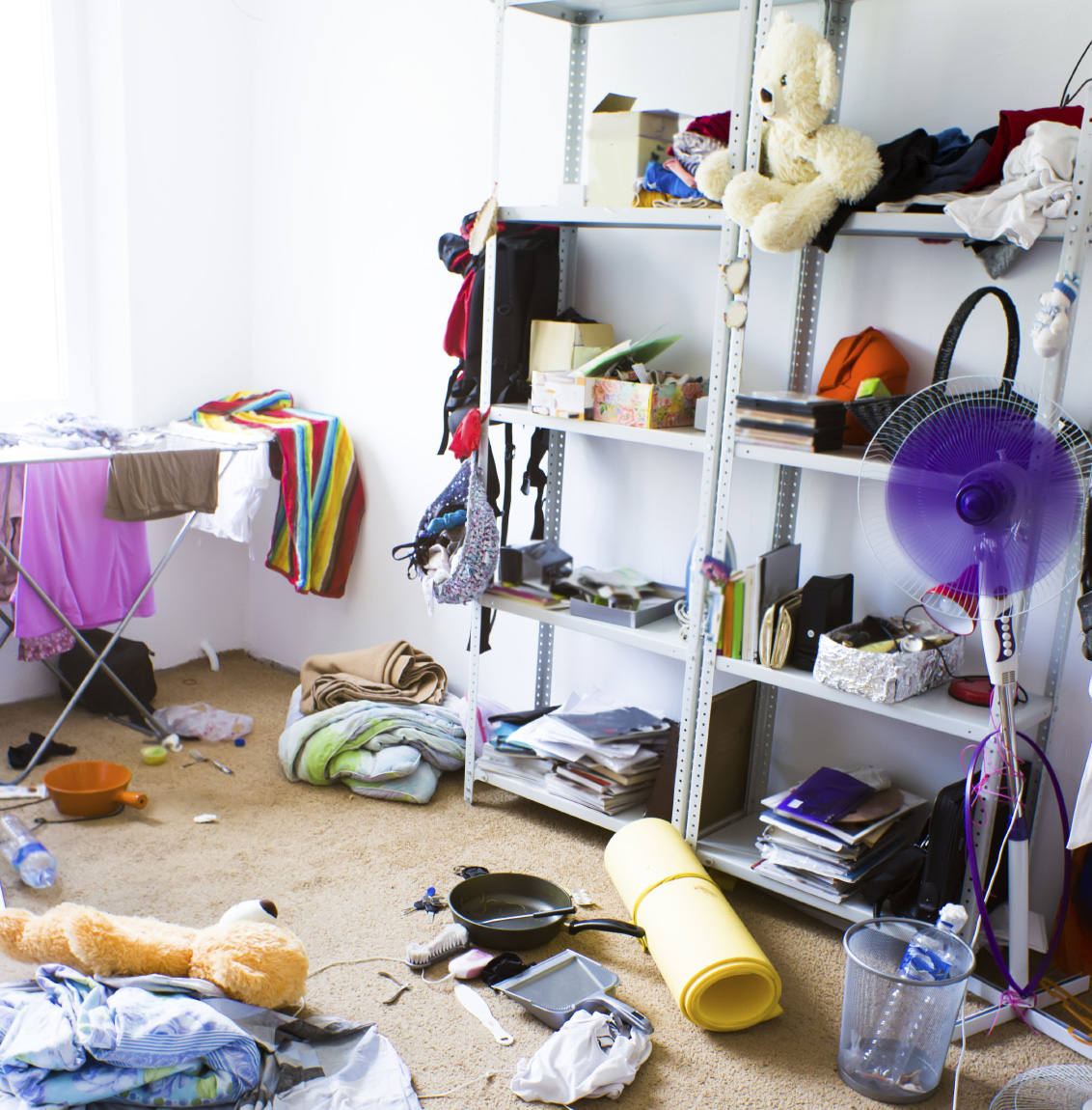 Too much clutter in the home