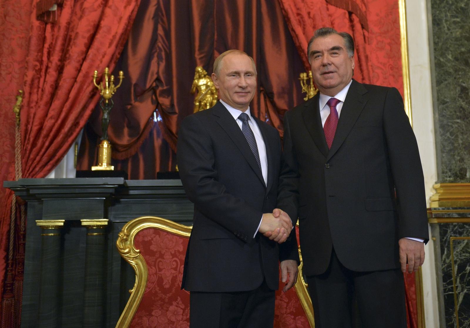 Vladimir Putin & Emomalii Rahmon