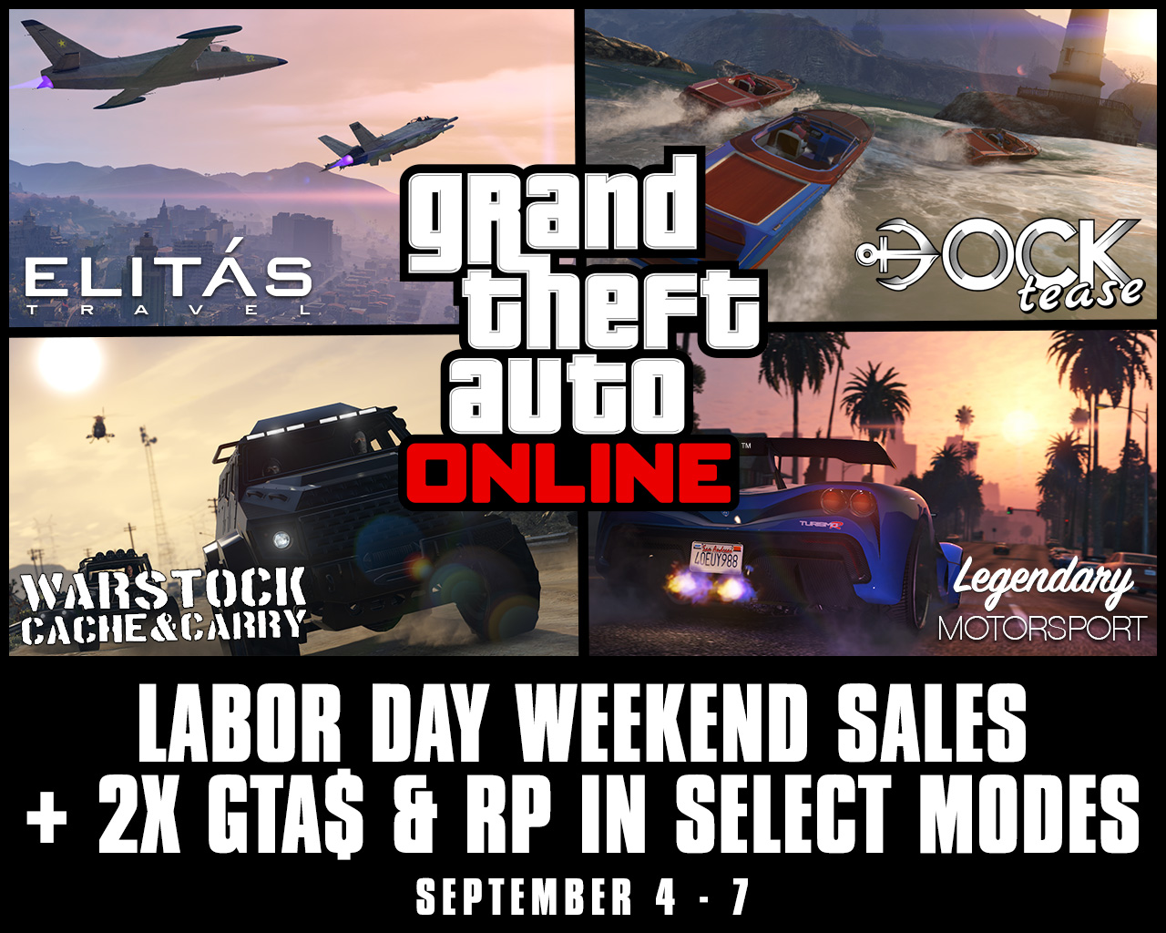 GTA Online: Labor Day Weekend Sales