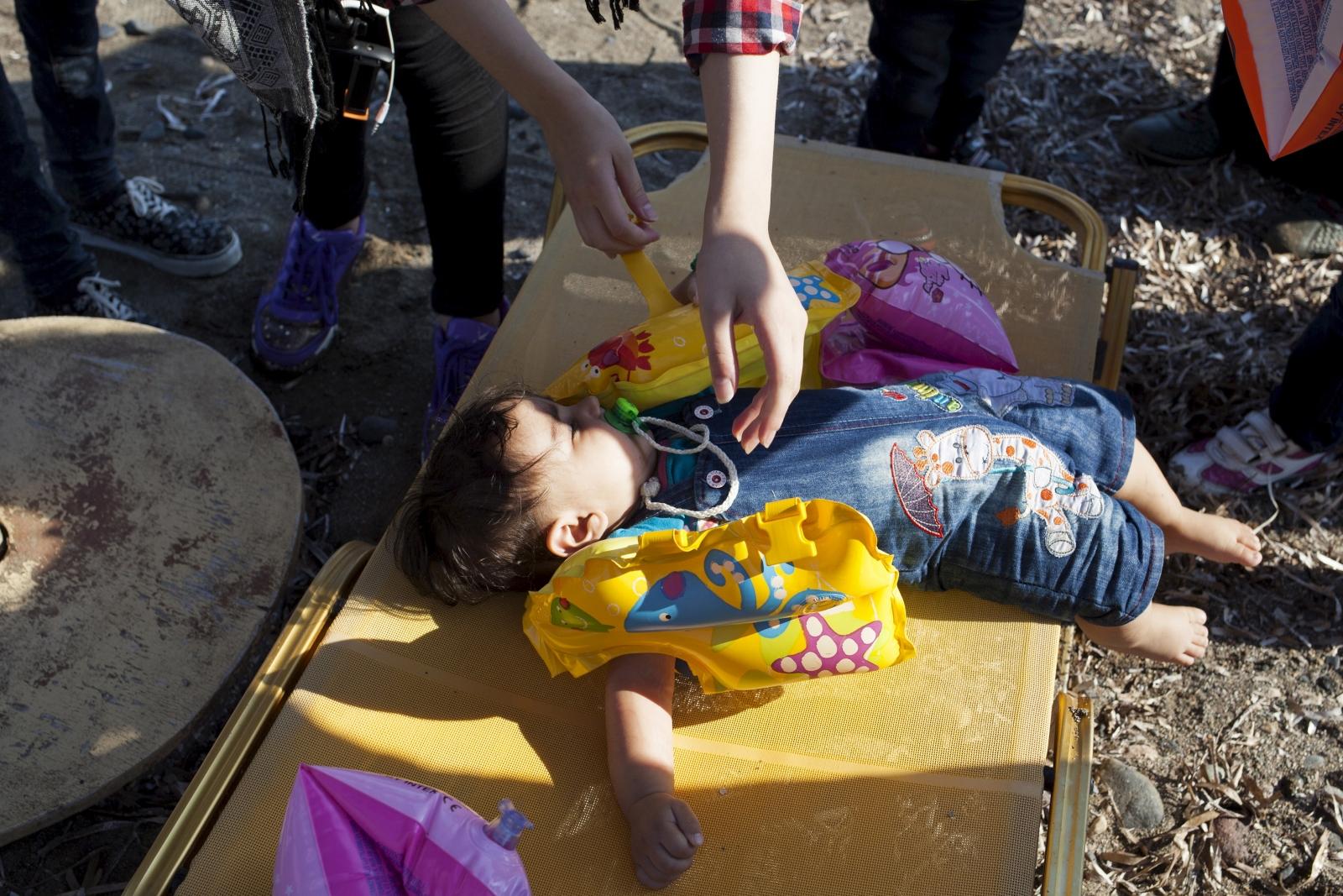 migrant crisis Syria Greece child