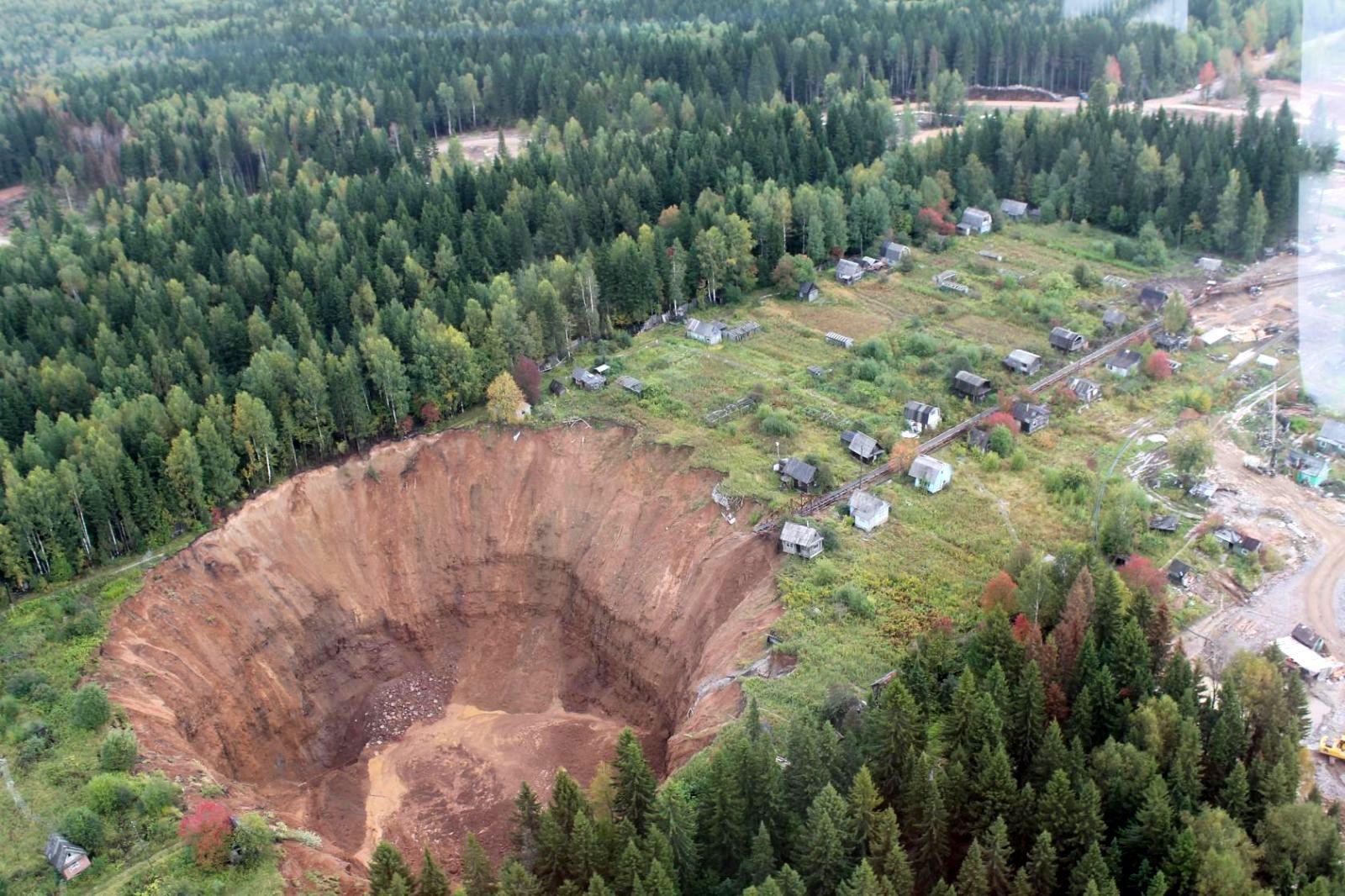 Solikamsk sinkhole Russia
