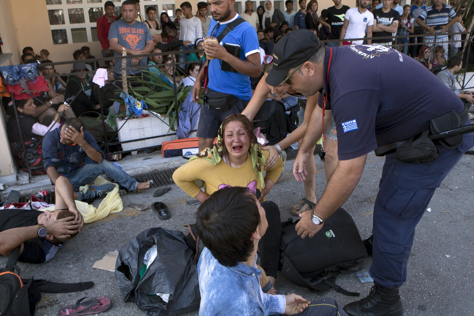 migrants Lesbos Greece crisis