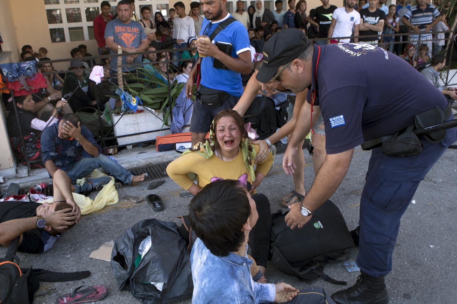 migrants Lesbos Greece crisis