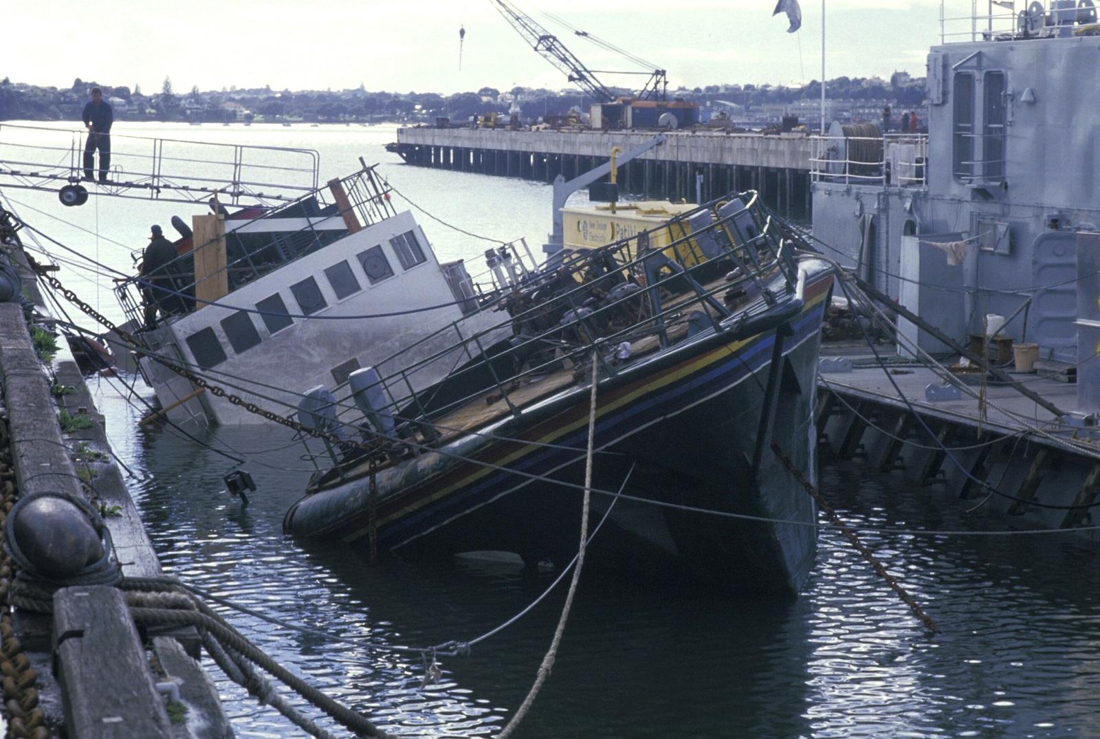 Greenpeace Rainbow Warrior Sinking New Zealand