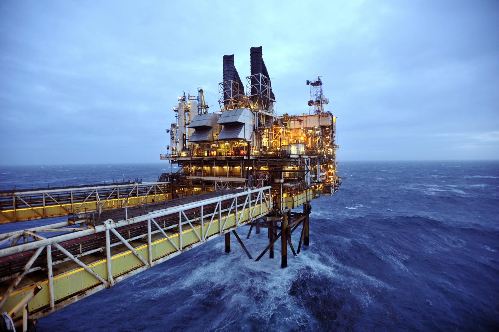 BP oil platform, North Sea