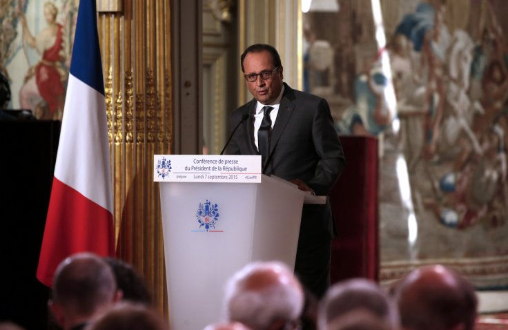 Francois Hollande France refugees