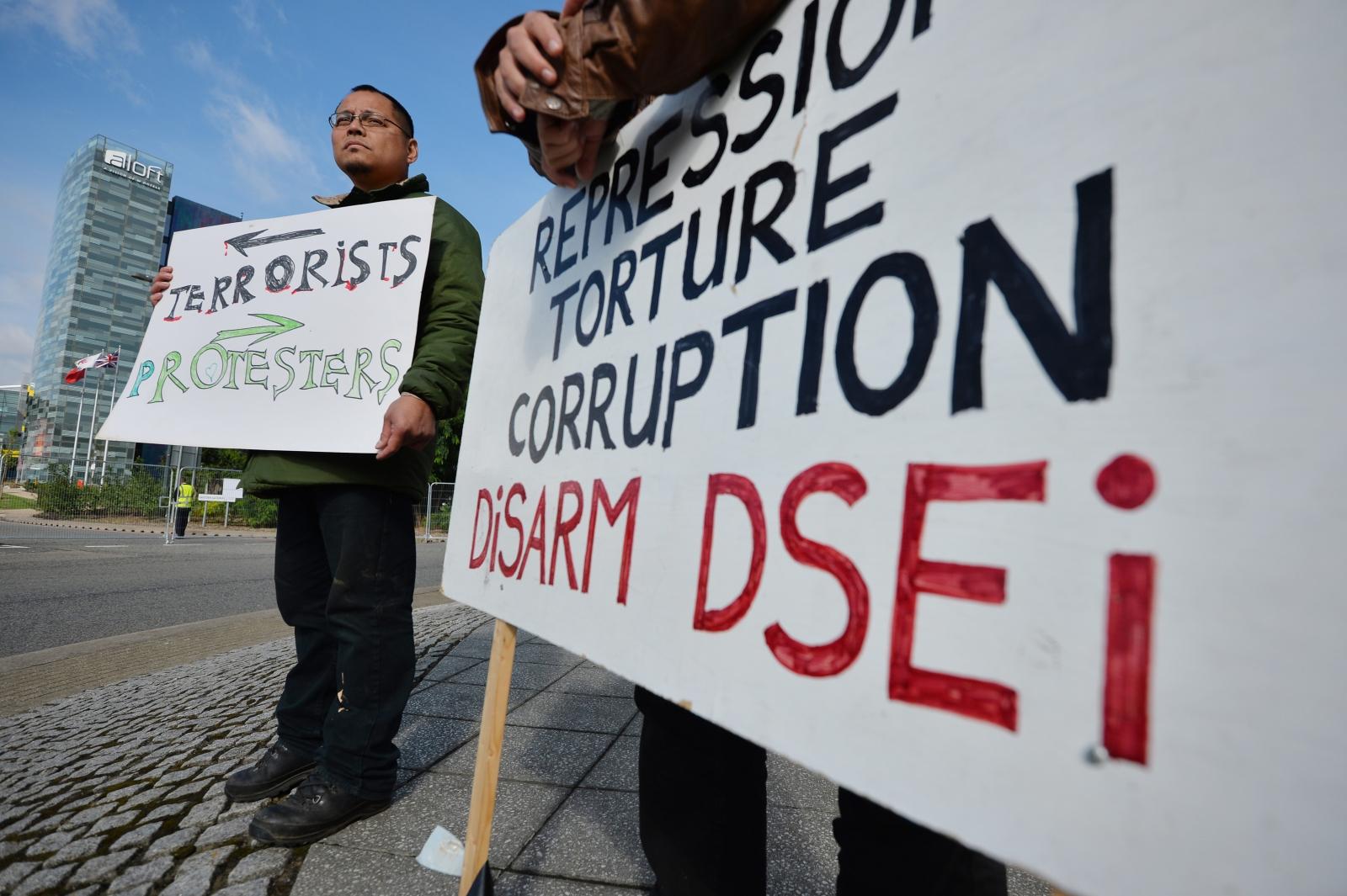 DSEI protest