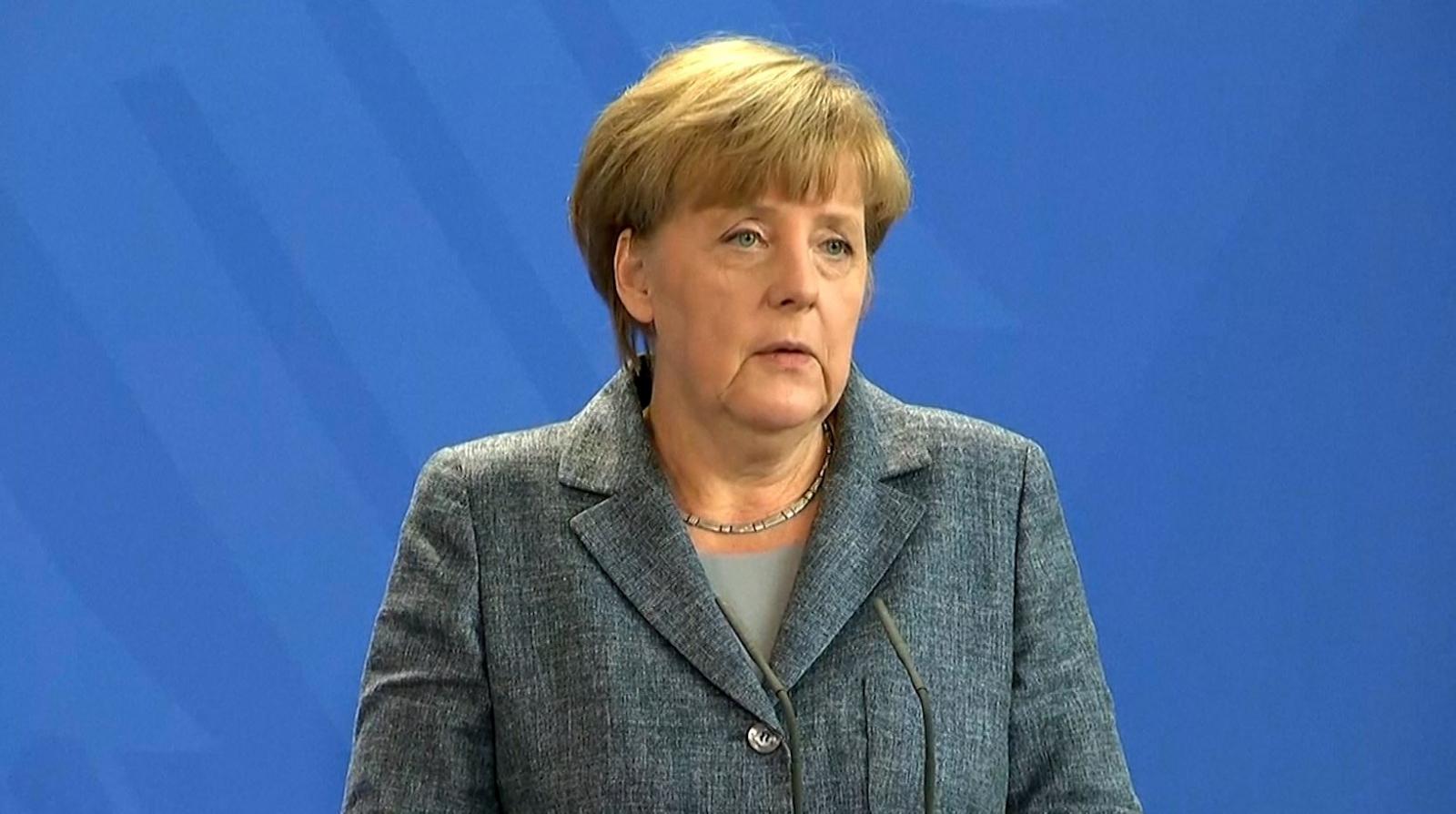 Merkel Press conference refugees Europe