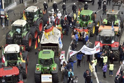 brussels farmers protest