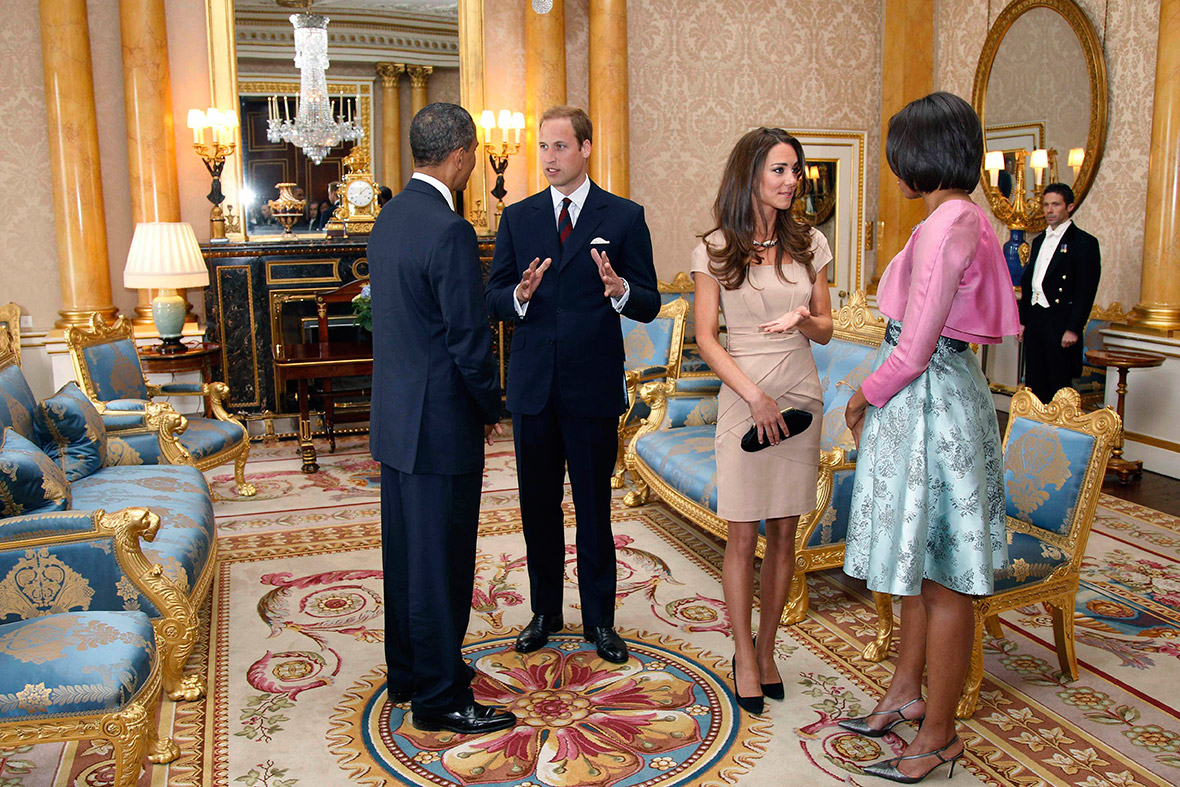 Obamas with Duke and Duchess of Cambridge