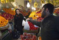 Iranian woman shopping in Tehran