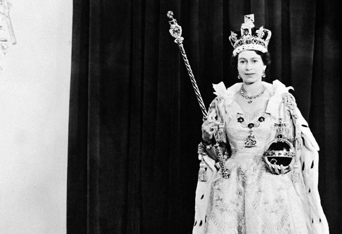 The Queen with the sceptre and orb