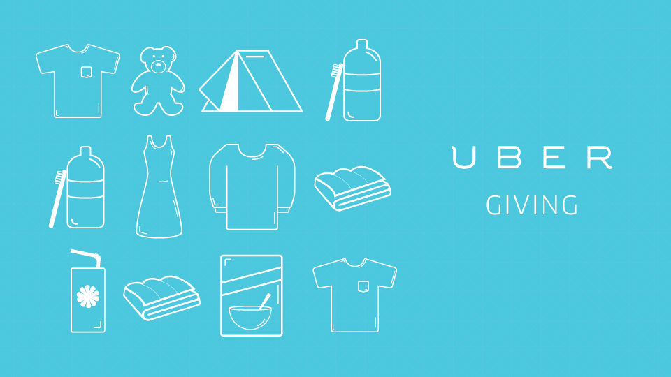migrant crisis ubergiving campaign sees uber collect donated items for refugees in 23 cities. Black Bedroom Furniture Sets. Home Design Ideas