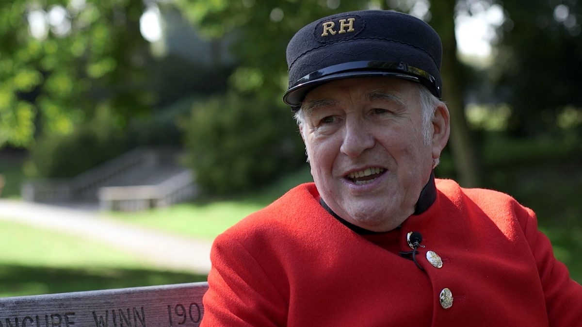 Chelsea Pensioner Ray Pearson coronation