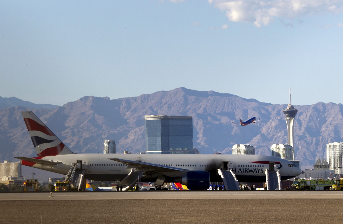 British Airways fire Vegas
