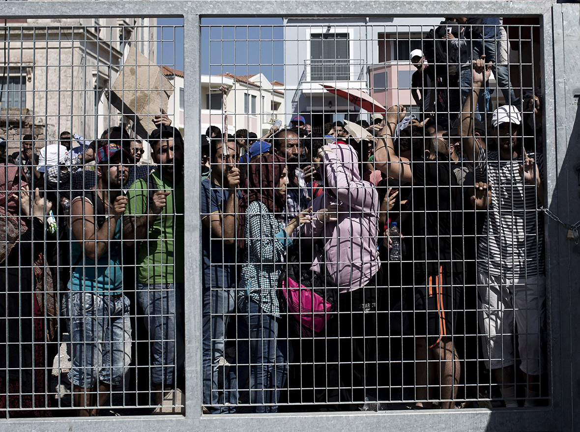 Lesbos refugees