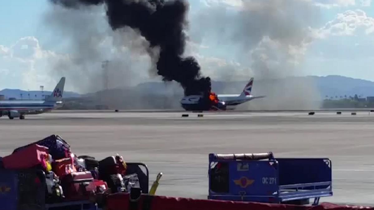 Las Vegas plane fire