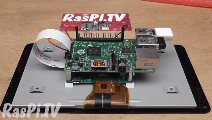 The back of the Raspberry Pi Display
