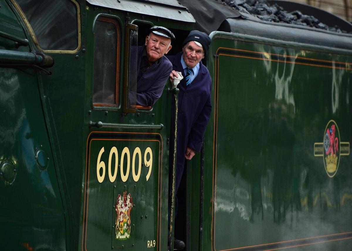 Queen Elizabeth steam locomotive