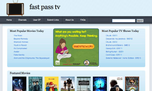 FastPassTV illegal movie streaming website
