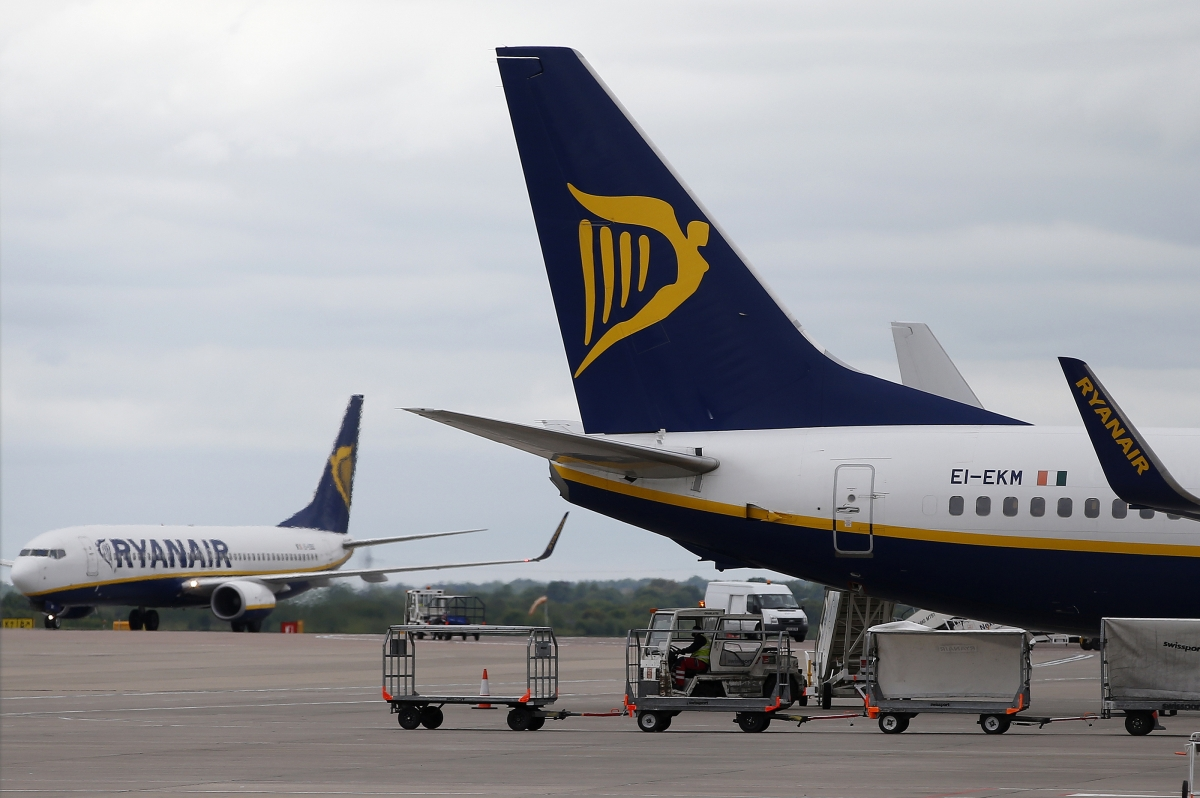 Ryanair aircraft, Manchester airport