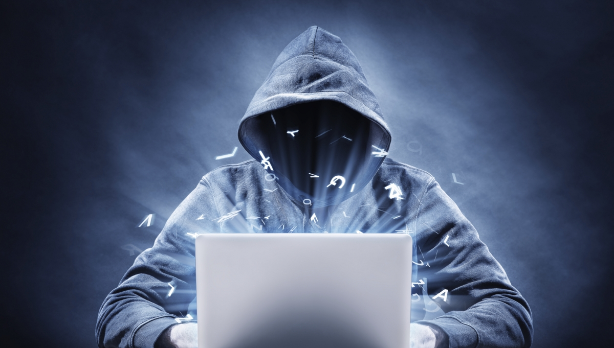 A hacker trying to access user accounts