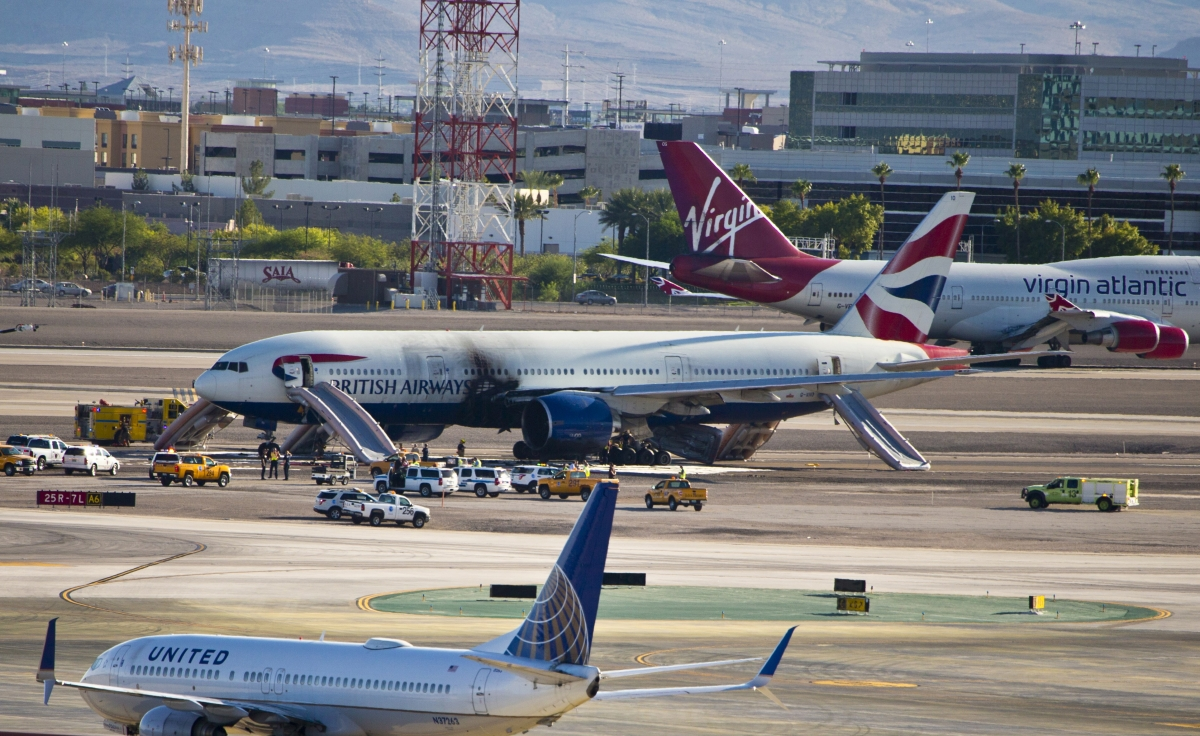British Airways flight Las Vegas