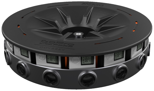GoPro Odyssey: 16 cameras, 360 degrees