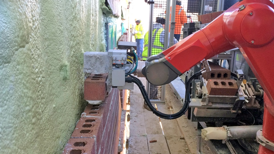 Bricklaying robot SAM works four times faster