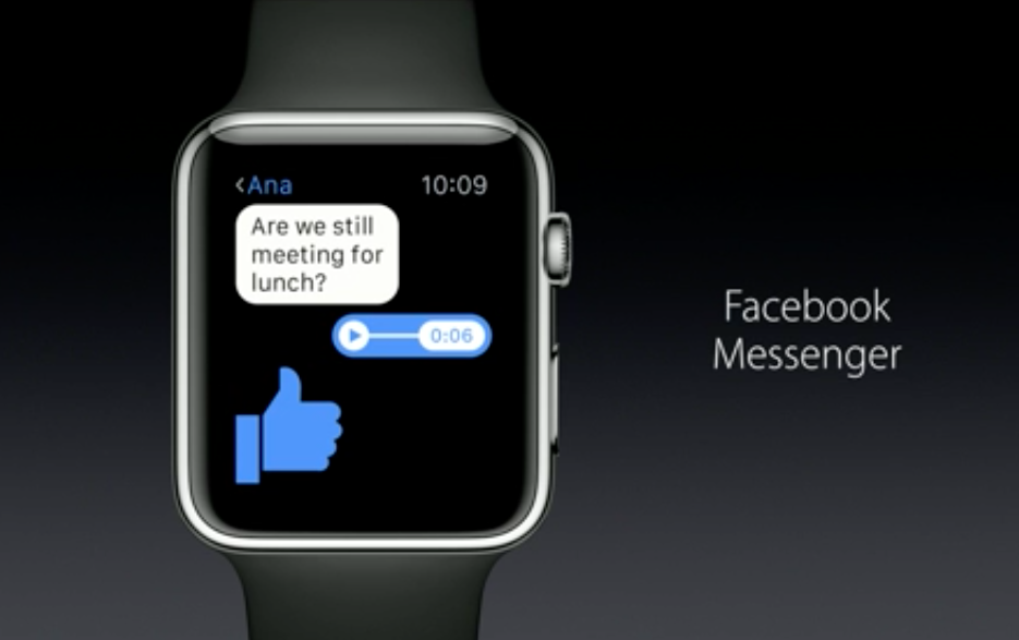 Apple Watch Facebook Messenger