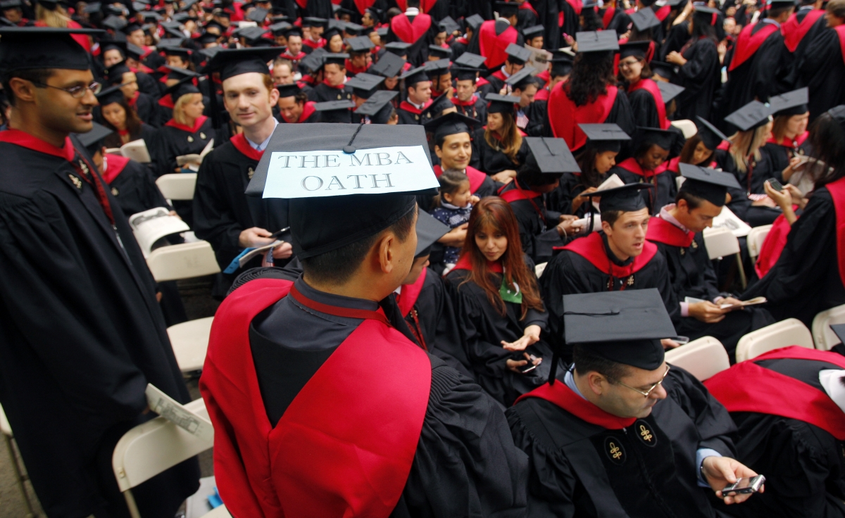 Harvard business school students, Cambridge