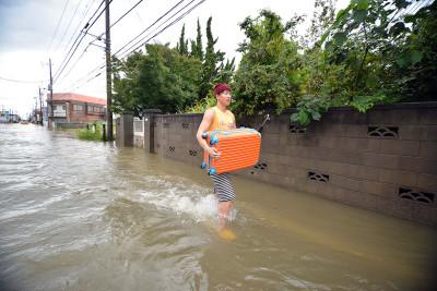 Japan storm Etau floods