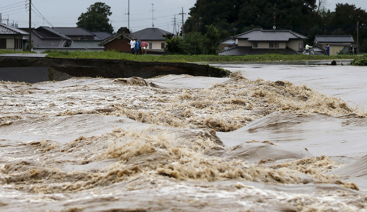 Japan Floods Houses Swept Away As Wall Of Water From