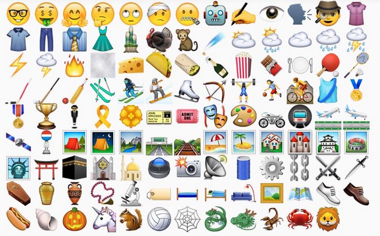 Apple iOS 9.1 emoji
