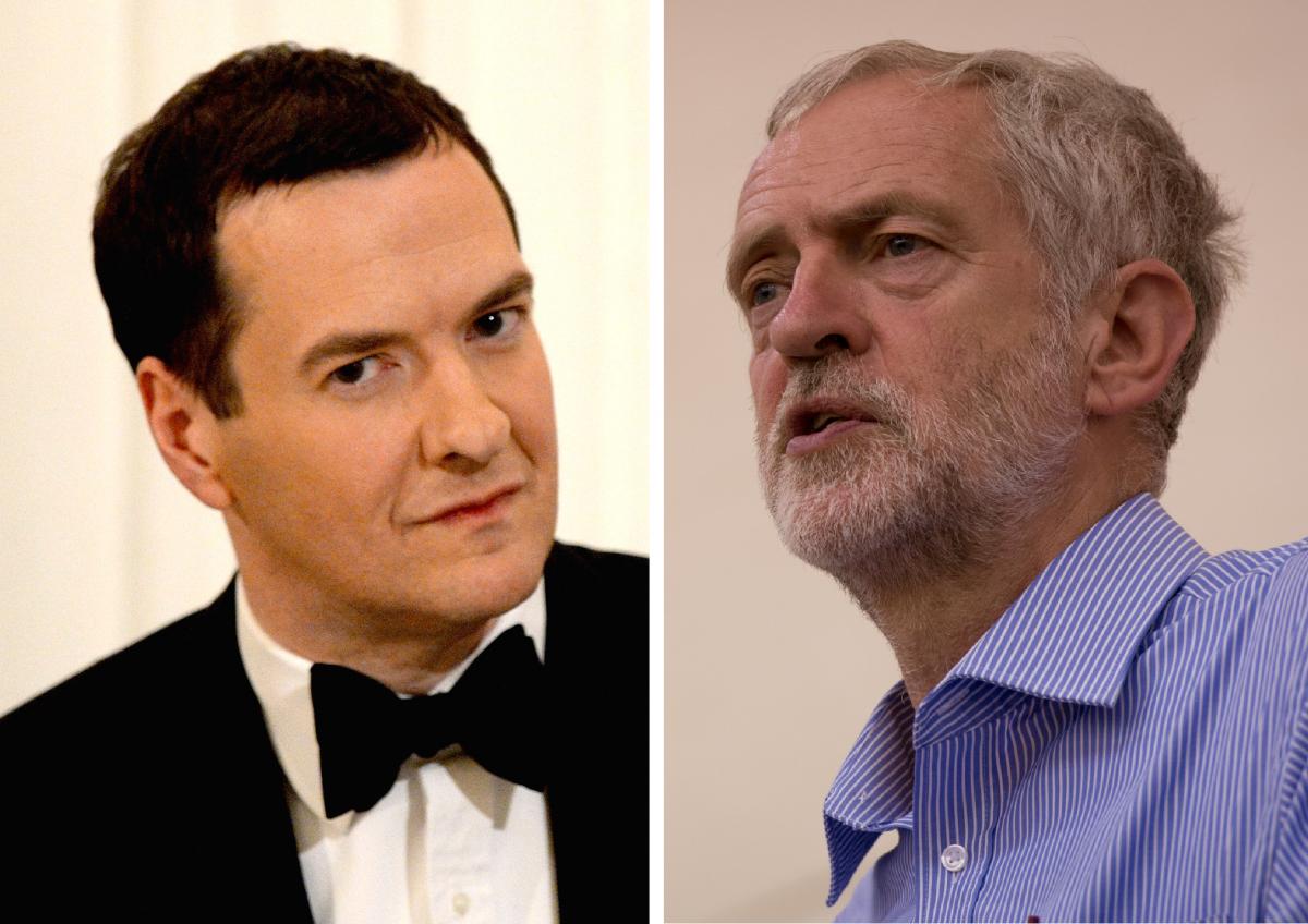 George Osborne Jeremy Corbyn