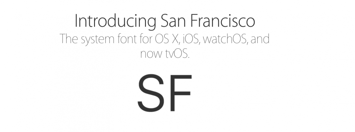 Apple San Francisco Typeface