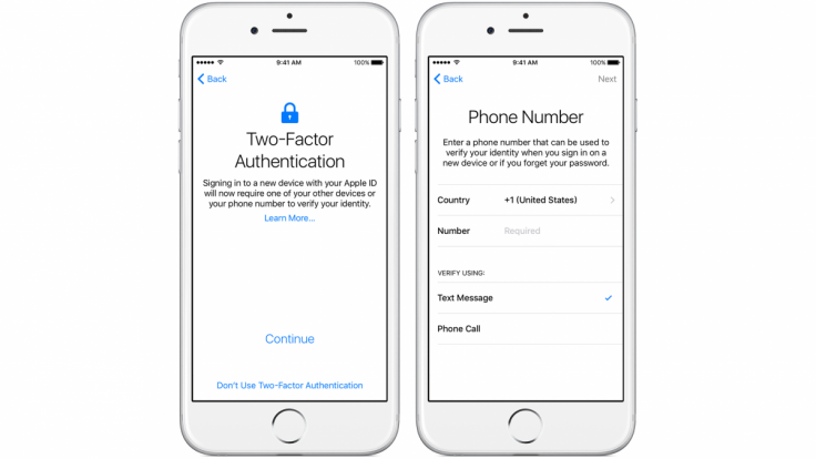 iOS 9 two factor authentication