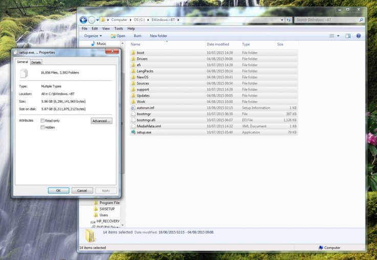 Windows 10 files secretly downloaded to PC