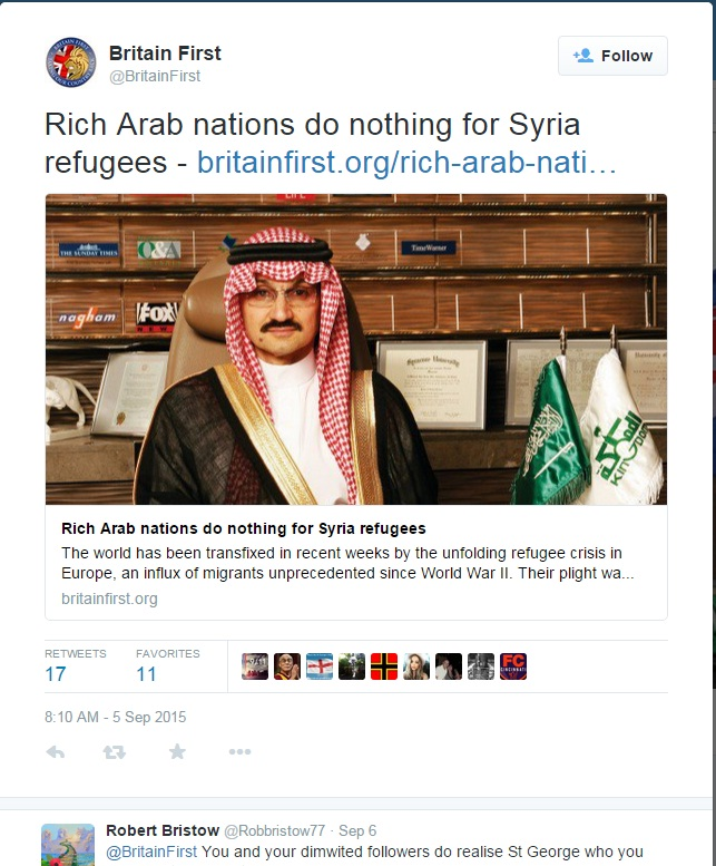Arab nations doing nothing for refugees