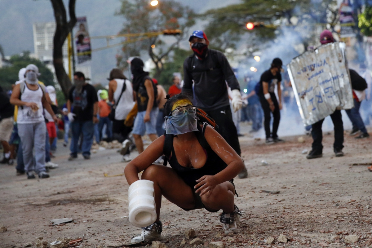 Protesters in Venezuela Leopoldo Lopez