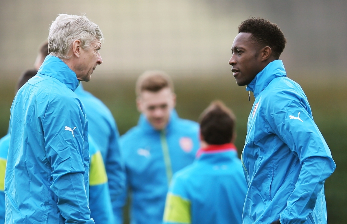 Arsene Wenger and Danny Welbeck